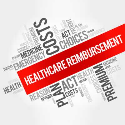 Picture of a words collage with a highlighted text of 'Healthcare Reimbursement' at Degrado Halkovich LLC Hackensack NJ